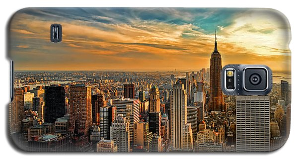 City Sunset New York City Usa Galaxy S5 Case by Sabine Jacobs