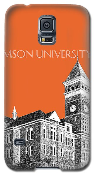 Clemson University - Coral Galaxy S5 Case by DB Artist