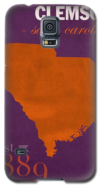 Clemson University Tigers College Town South Carolina State Map Poster Series No 030 Galaxy S5 Case by Design Turnpike