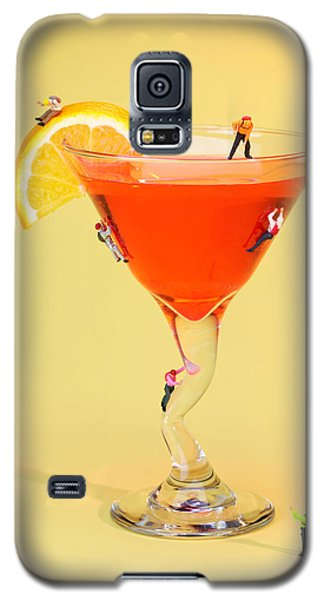 Climbing On Red Wine Cup Galaxy S5 Case by Paul Ge