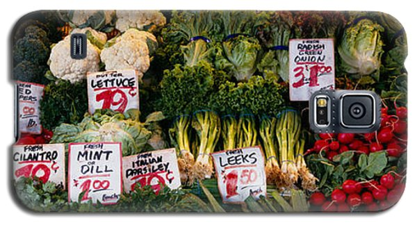 Close-up Of Pike Place Market, Seattle Galaxy S5 Case by Panoramic Images