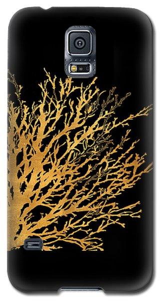 Coastal Coral On Black II Galaxy S5 Case by Lanie Loreth