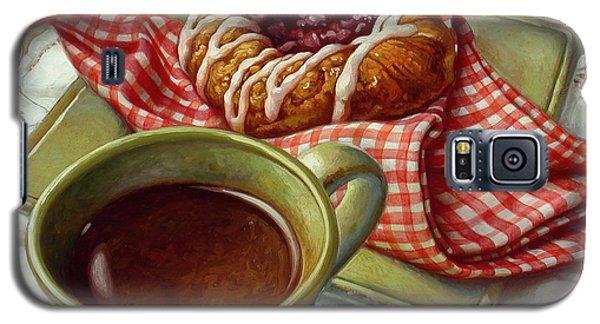 Coffee And Danish Galaxy S5 Case by Mia Tavonatti