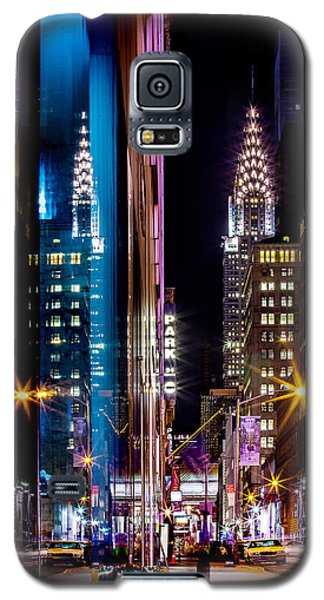 Skylines Galaxy S5 Cases - Color of Manhattan Galaxy S5 Case by Az Jackson