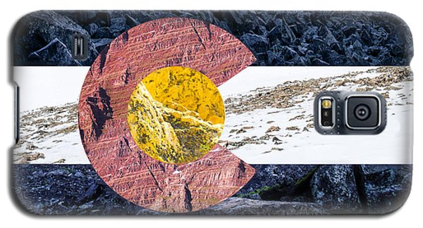 Colorado State Flag With Mountain Textures Galaxy S5 Case by Aaron Spong