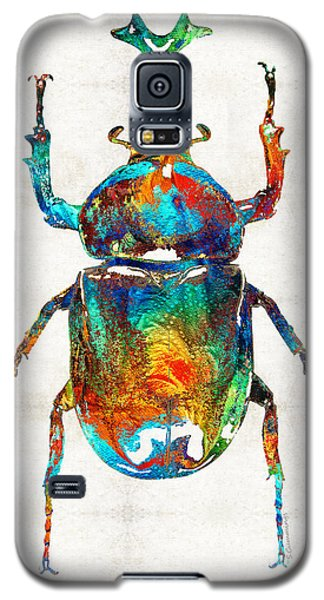 Colorful Beetle Art - Scarab Beauty - By Sharon Cummings Galaxy S5 Case by Sharon Cummings