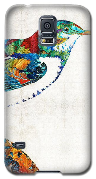 Colorful Bird Art - Sweet Song - By Sharon Cummings Galaxy S5 Case by Sharon Cummings