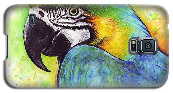 Macaw Watercolor Galaxy S5 Case by Olga Shvartsur
