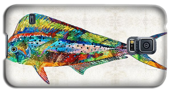 Colorful Dolphin Fish By Sharon Cummings Galaxy S5 Case by Sharon Cummings