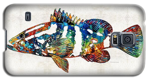 Colorful Grouper 2 Art Fish By Sharon Cummings Galaxy S5 Case by Sharon Cummings