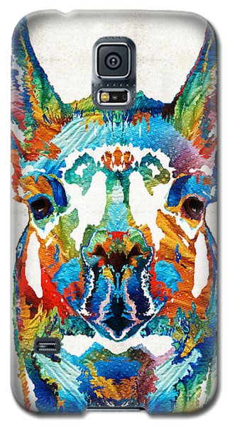 Colorful Llama Art - The Prince - By Sharon Cummings Galaxy S5 Case by Sharon Cummings
