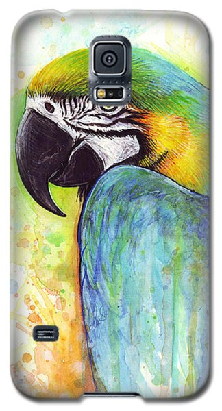 Macaw Painting Galaxy S5 Case by Olga Shvartsur