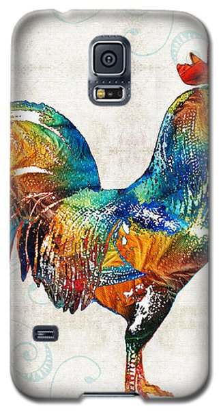Colorful Rooster Art By Sharon Cummings Galaxy S5 Case by Sharon Cummings