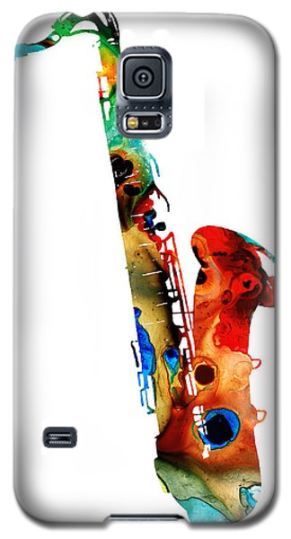 Colorful Saxophone By Sharon Cummings Galaxy S5 Case by Sharon Cummings