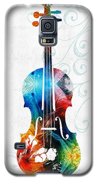 Colorful Violin Art By Sharon Cummings Galaxy S5 Case by Sharon Cummings