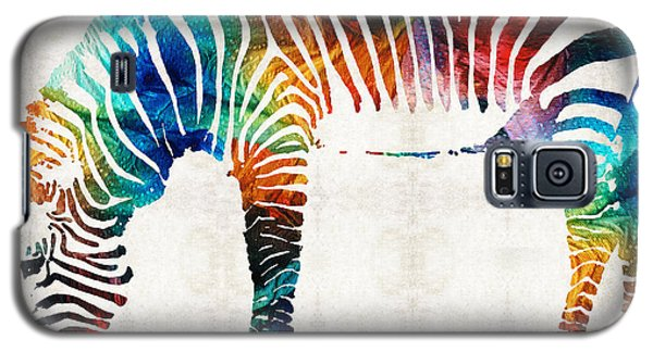 Colorful Zebra Art By Sharon Cummings Galaxy S5 Case by Sharon Cummings