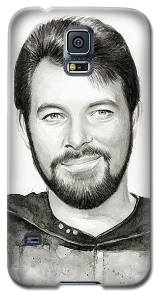 Commander William Riker Star Trek Galaxy S5 Case by Olga Shvartsur