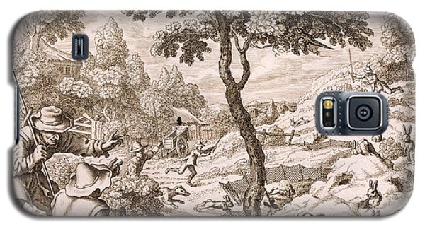 Cony Catching, Engraved By Wenceslaus Galaxy S5 Case by Francis Barlow