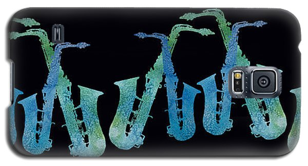 Cool Blue Saxophone String Galaxy S5 Case by Jenny Armitage