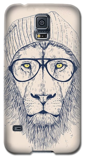 Drawings Galaxy S5 Cases - Cool lion Galaxy S5 Case by Balazs Solti