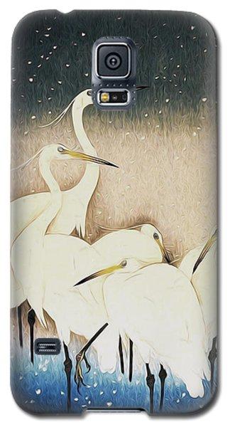 Cranes  Galaxy S5 Case by Shanina Conway