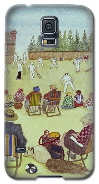 Cricket On The Green, 1987 Watercolour On Paper Galaxy S5 Case by Gillian Lawson