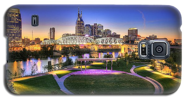 Cumberland Park And Nashville Skyline Galaxy S5 Case by Lucas Foley