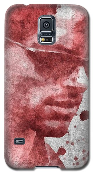 Cyclops X Men Paint Splatter Galaxy S5 Case by Dan Sproul