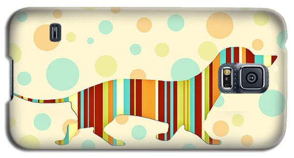 Dachshund Fun Colorful Abstract Galaxy S5 Case by Natalie Kinnear