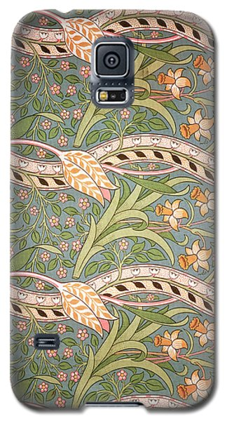 Tapestries - Textiles Galaxy S5 Cases - Daffodil Chintz Galaxy S5 Case by John Henry Dearle
