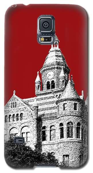 Dallas Skyline Old Red Courthouse - Dark Red Galaxy S5 Case by DB Artist