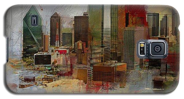 Dallas Skyline 003 Galaxy S5 Case by Corporate Art Task Force