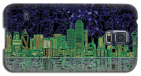 Dallas Skyline Abstract 4 Galaxy S5 Case by Bekim Art
