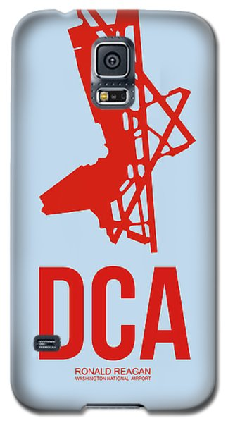 Dca Washington Airport Poster 2 Galaxy S5 Case by Naxart Studio