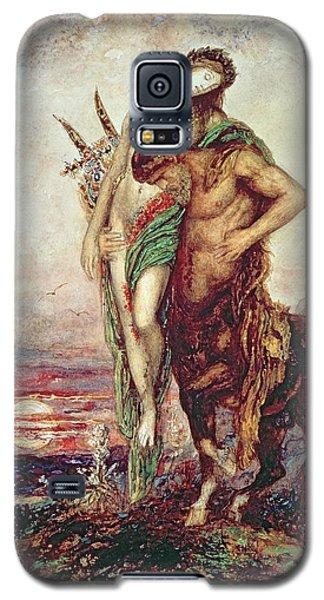 Dead Poet Borne By Centaur Galaxy S5 Case by Gustave Moreau