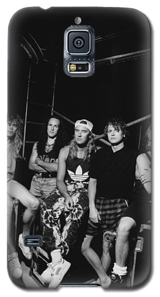 Def Leppard - Adrenalize Tour B&w 1992 Galaxy S5 Case by Epic Rights