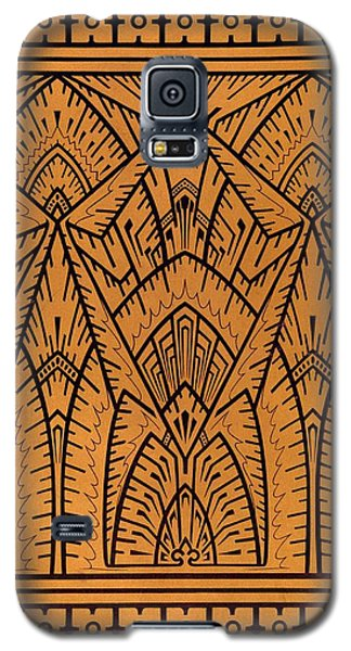 Tapestries - Textiles Galaxy S5 Cases - Design for a Pattern illustration from Studies in Design Galaxy S5 Case by Christopher Dresser