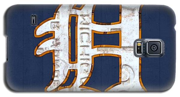 Detroit Tigers Baseball Old English D Logo License Plate Art Galaxy S5 Case by Design Turnpike