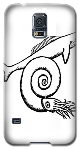 Devonian Shark And Ammonoid Galaxy S5 Case by Richard Bizley
