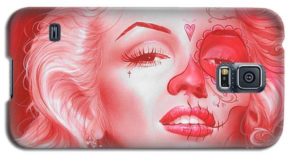 Marilyn Monroe - ' Dia De Los Monroe ' Galaxy S5 Case by Christian Chapman Art