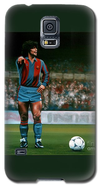 Diego Maradona Galaxy S5 Case by Paul Meijering