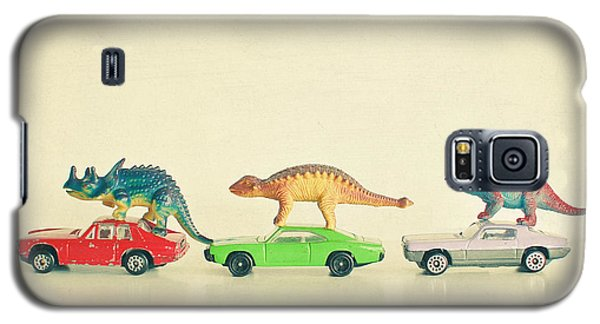 Dinosaurs Ride Cars Galaxy S5 Case by Cassia Beck