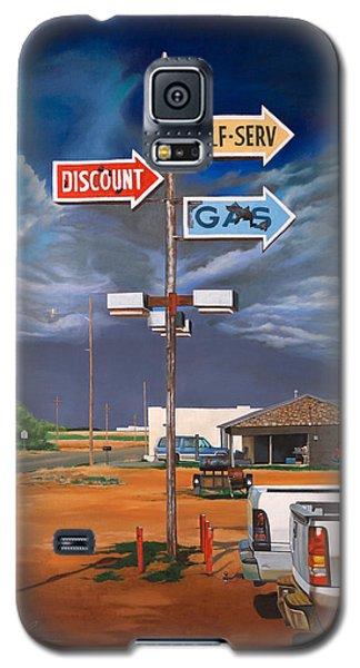 Discount Self-serv Gas Galaxy S5 Case by Karl Melton