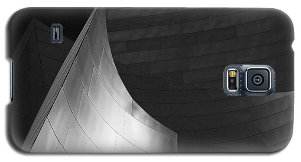 Disney Hall Abstract Black And White Galaxy S5 Case by Rona Black