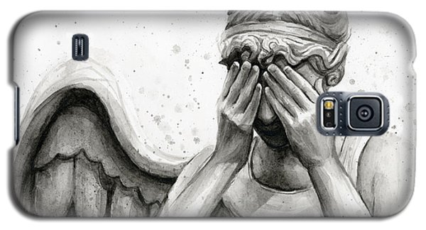 Science Fiction Galaxy S5 Cases - Doctor Who Weeping Angel Dont Blink Galaxy S5 Case by Olga Shvartsur