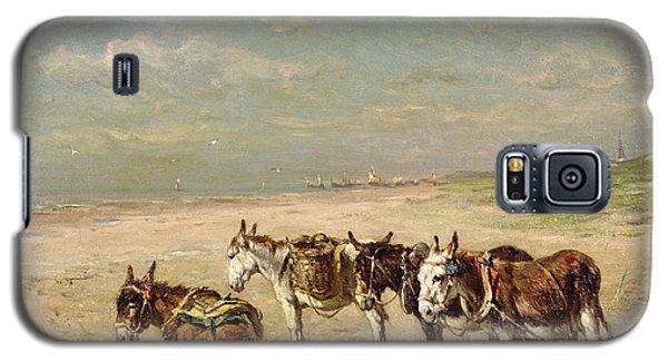 Donkeys On The Beach Galaxy S5 Case by Johannes Hubertus Leonardus de Haas