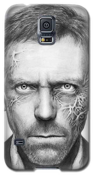 Celebrities Galaxy S5 Cases - Dr. Gregory House - House MD Galaxy S5 Case by Olga Shvartsur