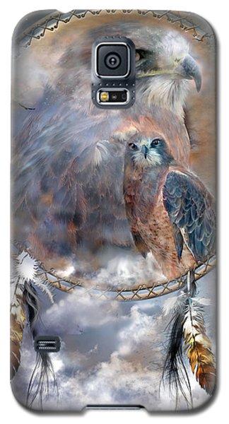 Dream Catcher - Hawk Spirit Galaxy S5 Case by Carol Cavalaris