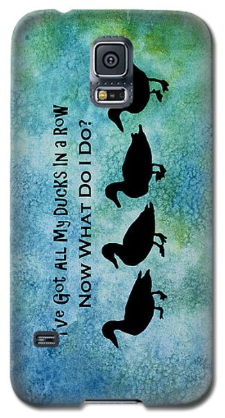Ducks In A Row Galaxy S5 Case by Jenny Armitage