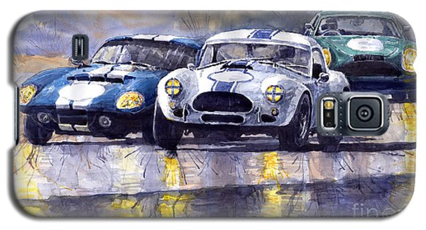 Duel Ac Cobra And Shelby Daytona Coupe 1965 Galaxy S5 Case by Yuriy  Shevchuk